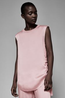 Ted Baker Ted Says Relax Pink Ruched Side Tee