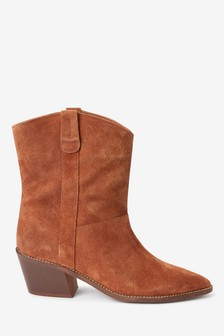 Signature Pull-On Western Ankle Boots