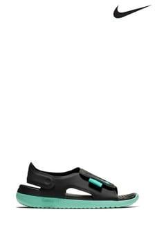 Nike Black/Green Sunray Adjust Junior & Youth