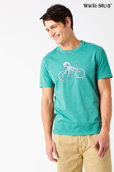 White Stuff Green Octobike Graphic Tee