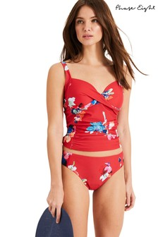 Phase Eight Red Monica Print Tankini Brief
