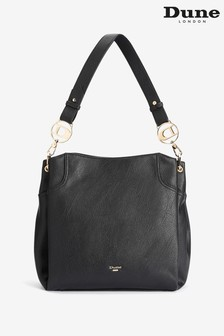 Dune Accessories Black Large Branded Slouch Bag