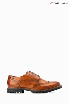 Base London® Tan Grundy Lace-Up Brogue Shoes
