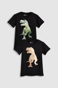 Dinosaur Sequin Change T-Shirt (3-16yrs)