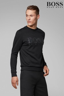 BOSS Salbo Iconic Crew Neck Logo Sweatshirt