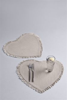 2 Pack Heart Placemats