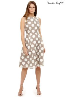 Phase Eight Praline/Cream Hayley Spot Dress