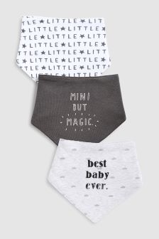 Slogan Dribble Bibs Three Pack