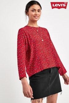 Levi's® Red Leopard Print Blouse
