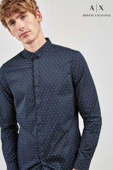 Armani Exchange Navy Print Shirt