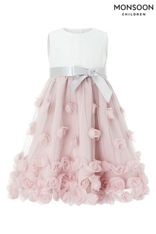Robe Monsoon Baby Ianthe rose poudré
