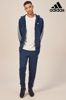 adidas Navy Essential 3 Stripe Jogger