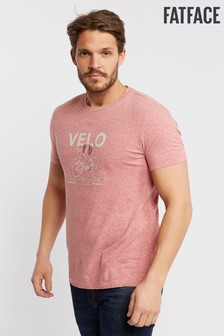 FatFace Pink Velo Bike Graphic Tee