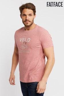 FatFace Pink Velo Bike Graphic Tee
