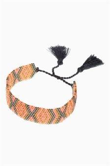 Эластичный браслет из бисера