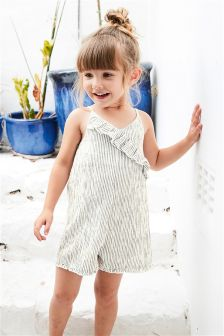 Stripe Frill Playsuit (3mths-6yrs)
