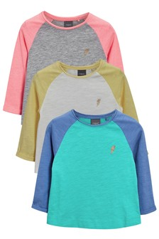 Raglan Sleeve T-Shirts Three Pack (3mths-6yrs)