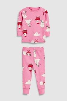 Теплая пижама со снеговиком (9 мес. - 12 лет)