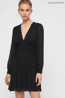 AllSaints Black Kianna Dress