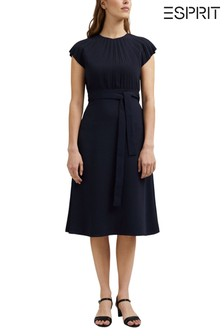 Esprit Blue Belted Dress