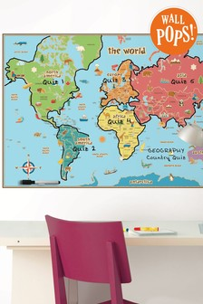 Wall Pops Kids World Map Wall Sticker