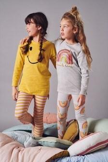 2 Pack Rainbow Legging Pyjamas (3-16yrs)