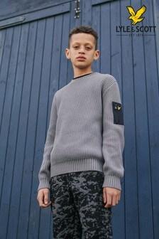 Sivý vrúbkovaný pletený pulóver Lyle & Scott