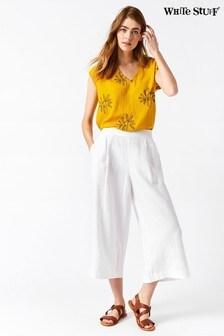 White Stuff Athel Crop Linen Culottes