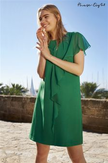 Phase Eight Parakeet Green Morganna Frill Dress