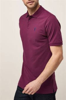 Tall Pique Poloshirt With Stretch