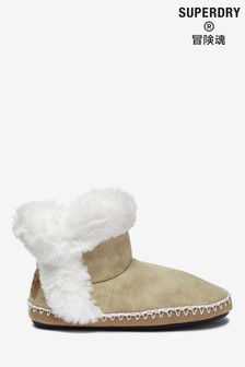 Superdry Tan Slipper Boots