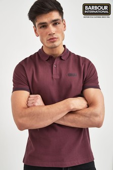 Barbour® International Burgundy Tipped Polo