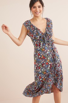 a5b9d38489d Floral Ruffle Midi Dress