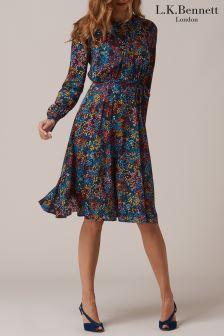 L.K.Bennett Blue Letisa Dress