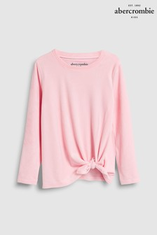 Abercrombie & Fitch Girls Tie Front Velour Sweat