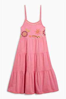 Embroidered Maxi Dress (3-16yrs)