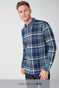 Twill Large Coloured Check Shirt