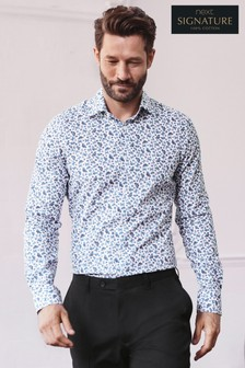 Signature Butterfly Print Slim Fit Shirt