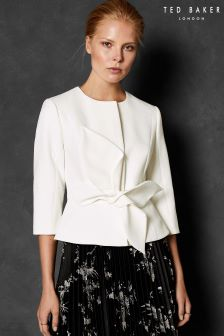 Ted Baker Ivory Polly Structured Bow Waist Jacket