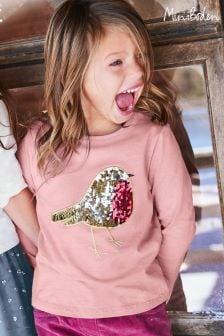 Boden Pink Colour-Change Festive T-Shirt