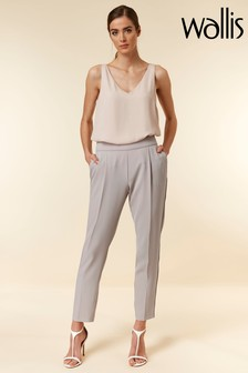 Wallis Silver Tapered Jogger