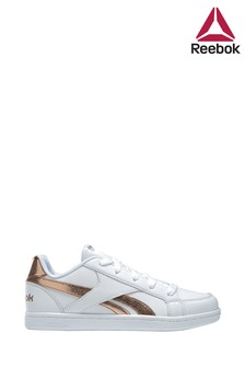 Reebok White/Gold Royal Charm Trainers