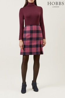 Hobbs Pink Avery Kick Pleat Skirt