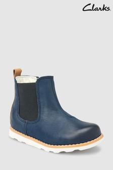 Clarks Navy Crown Halo Gusset First Ankle Boot
