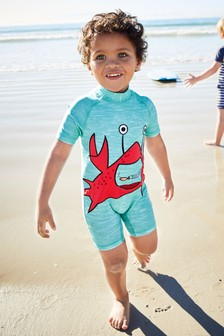 Crab Appliqué Sunsafe Suit (3mths-6yrs)