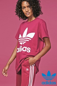 adidas Originals Maroon Big Trefoil T-Shirt