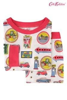 Cath Kidston® Kids White Garage Badges Jersey Pyjamas