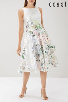 Coast White Bailey Jacquard Midi Dress
