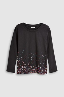 Long Sleeve Sequin Top (3-16yrs)