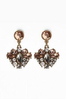 Clip-On Jewelled Drop Earrings